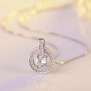 Cubic Zircon Sterling Silver Pendant Necklace NWOT